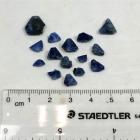 15 Benitoite Crystals, 17.25 tcw