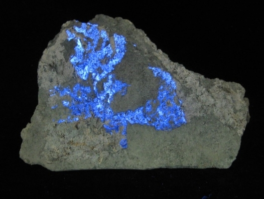 Fluorescent Benitoite Specimen, (Cab)