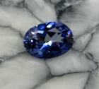 Faceted Benitoite, .29 cts., VVS
