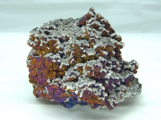 Dolomite on Chalcopyrite, Fletcher Mine, Centerville, Reynolds County, Missouri, (Cab)