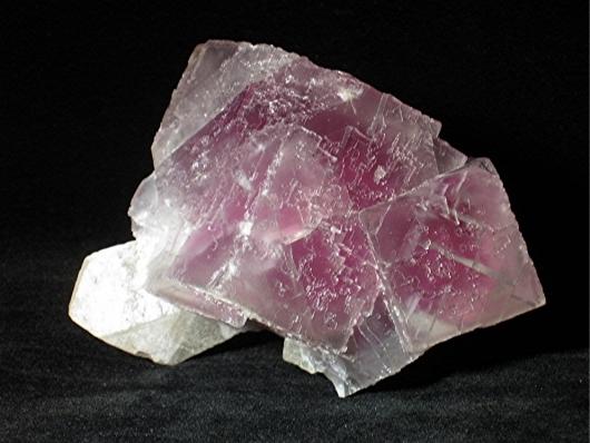 Rare Fluorite on Calcite Specimen, Gaskins Mine, Pope County, Illinois, (SCab)