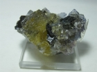 Fluorite w/ Calcite and Sphalerite, (Cab), Cave-in-Rock, Illinois