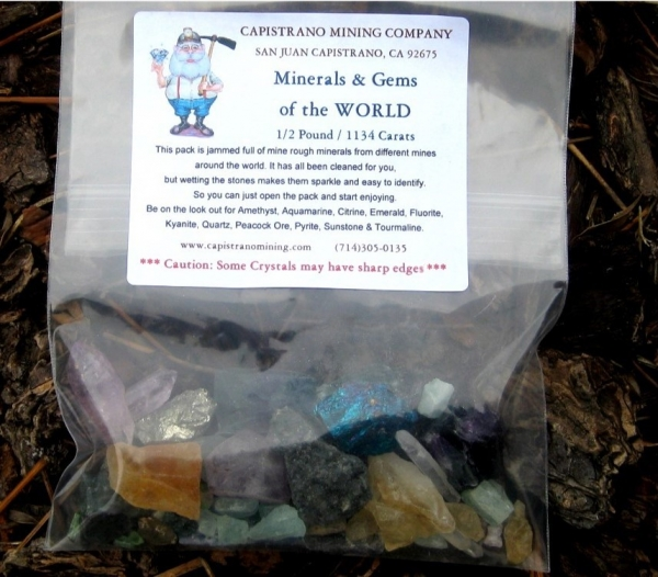 Mineral & Gems of the World Pack, 1/2 pound / 1134 carats
