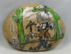"Painted Rock, ""Unsuspecting Miner"""