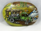 "Painted Rock, ""Vintage Miners"""