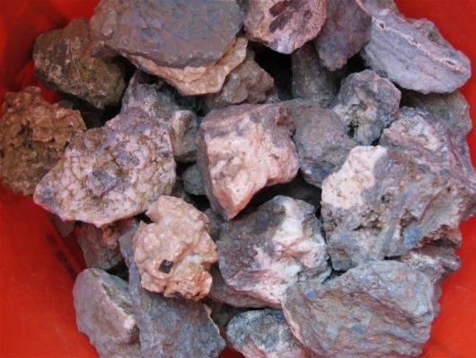 Ore from Benitoite Mine, by the pound. ( 5 pound minimum order )