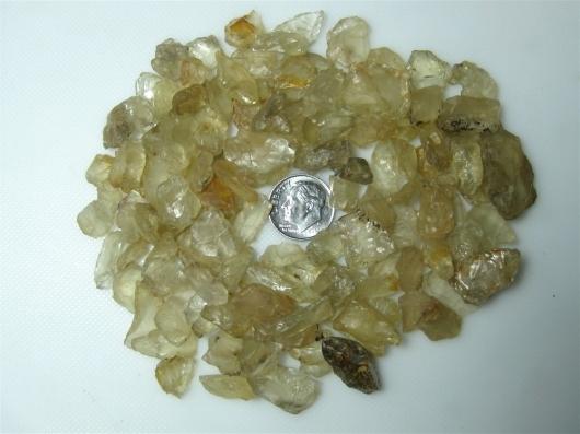 Oregon Sunstone, Rough Parcel, Clears,Champagne, 100 grams / 500 carats